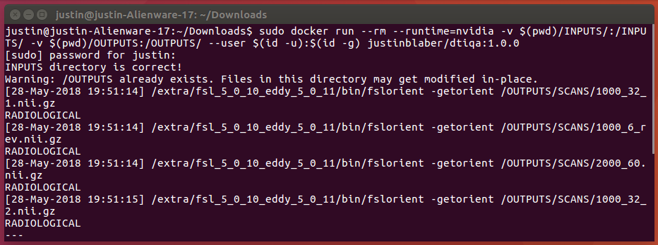 DWMRI Preprocessing (and Quality Assurance) with Docker and Singularity!